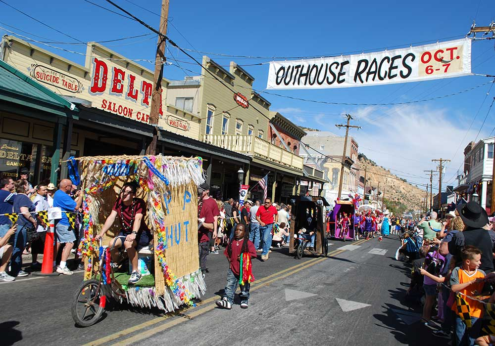 OUTHOUSE RACES - Virginia City Fall Activites