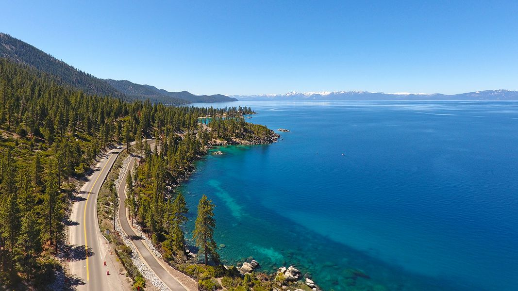 A view from the East Shore Trail at Lake Tahoe.