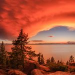 Red Sunset at Lake Tahoe