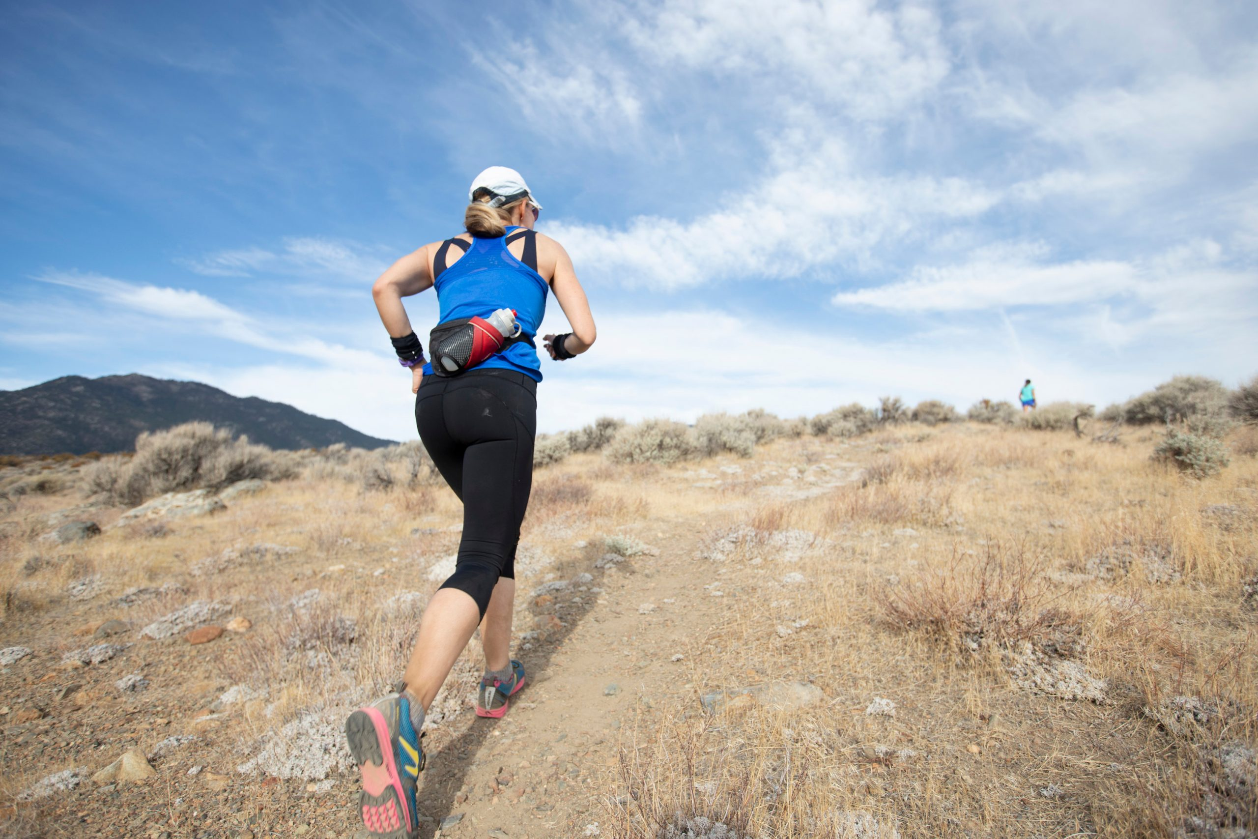 Runners take part in the Cold Turkey Run, south of Carson City.