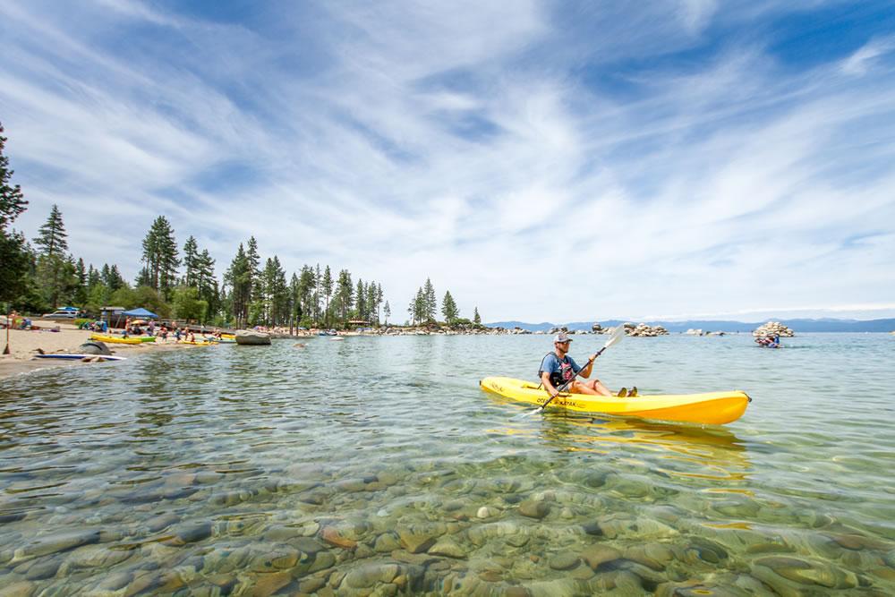 KAYAKING AT NORTH LAKE TAHOE - Summer Activities
