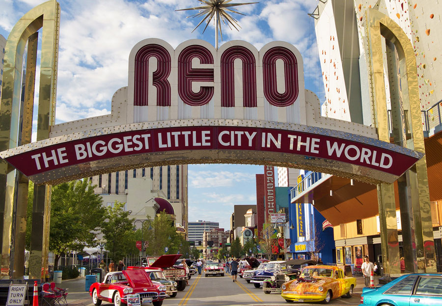 Hot August Nights in Downtown Reno, Nevada.